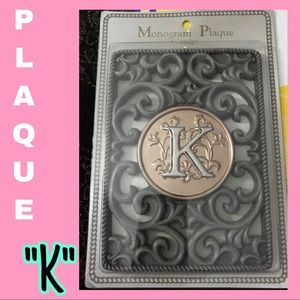 "Monogram ""K"" Plaque"